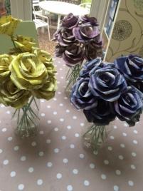Coloured standard roses 1