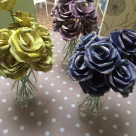 Coloured standard roses 1