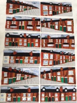 Beeston Terraces - machine applique