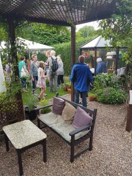 Back garden art trail