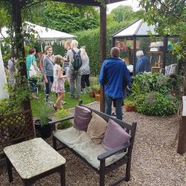 Back garden art trail