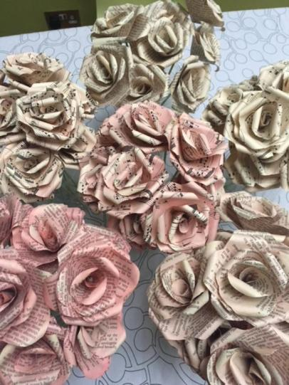 First order of roses for tablecentres