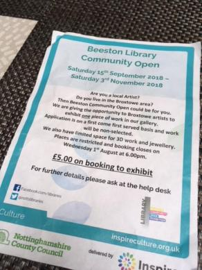 Beeston Library exhibition 1