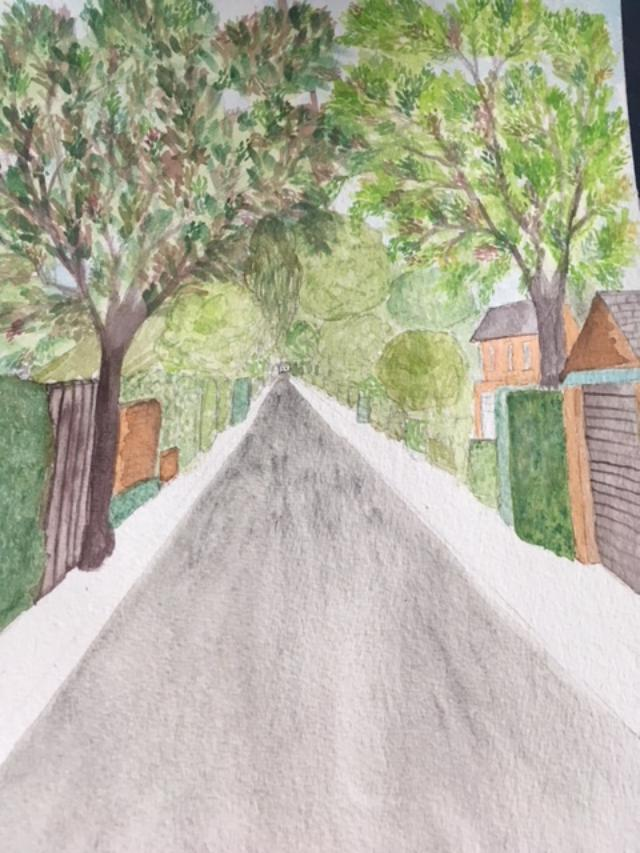Grove Ave painting