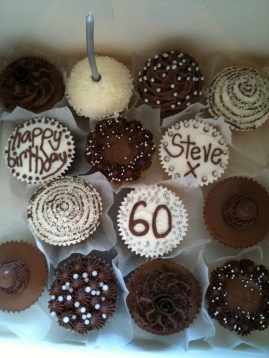 steve's 60th holiday cakes